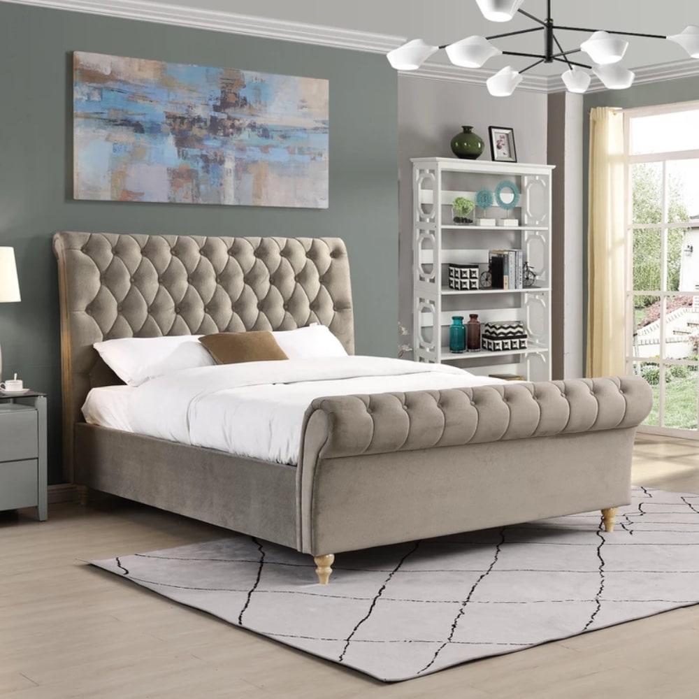 kilkenny Bed - Mink - Value Flooring and Furniture