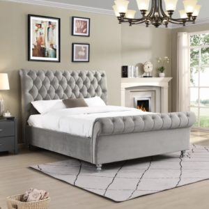kilkenny Bed - Silver - Value Flooring and Furniture